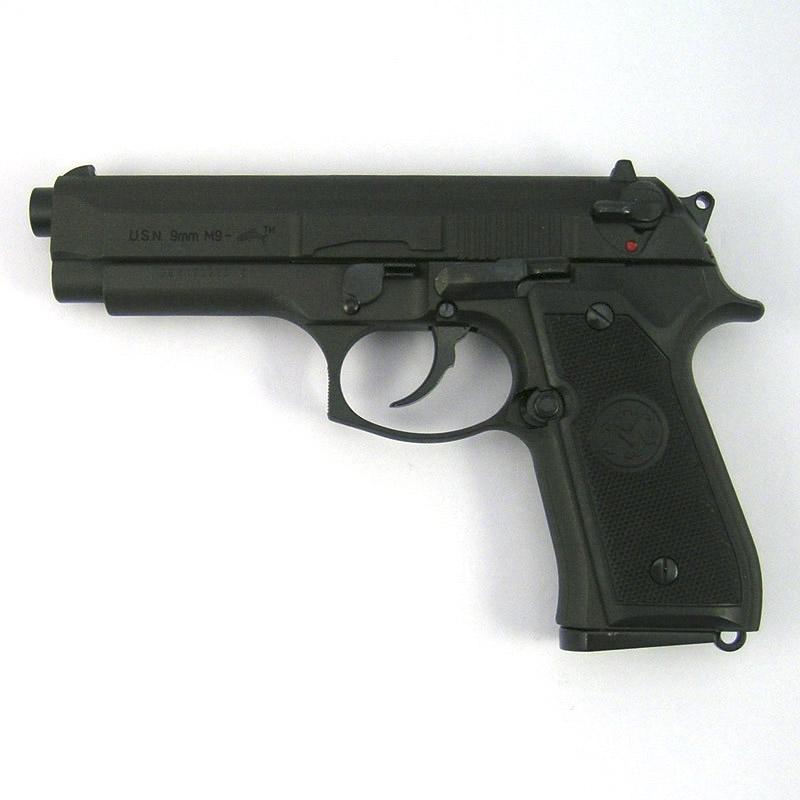 画像1: U.S.N M9ドルフィン [ブラック] HW・BLKモデルガン(マルシン)