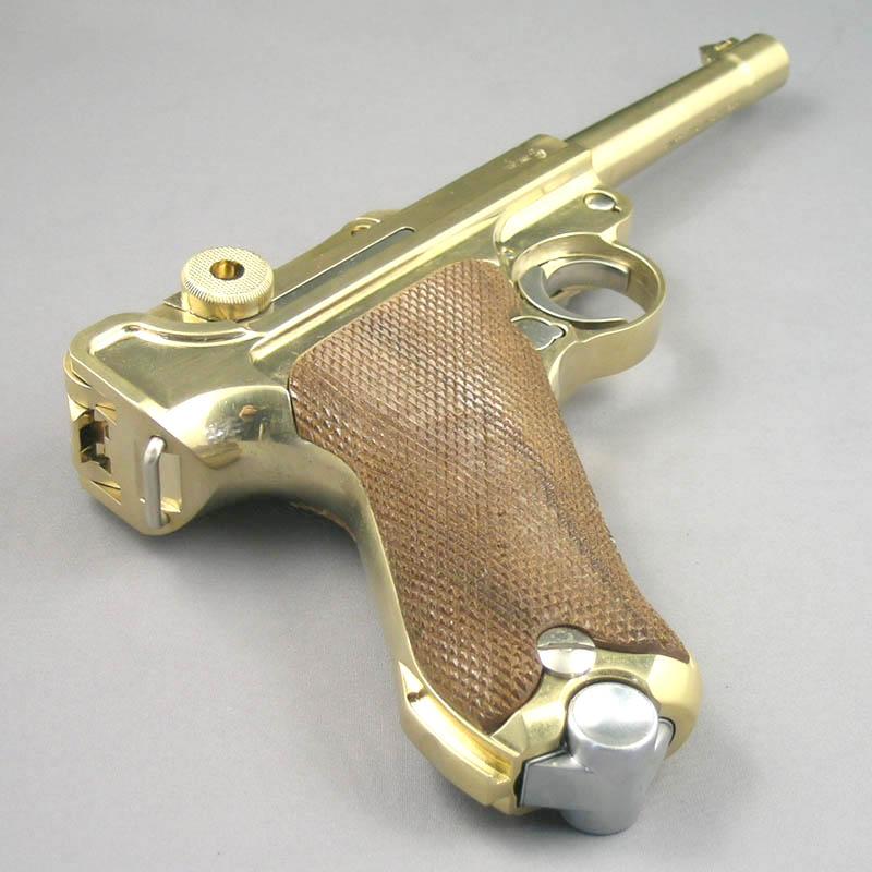 画像4: ルガーP-08・4インチ[木製チェッカーグリップ仕様] 金属・ダミーカート式モデルガン(マルシン)