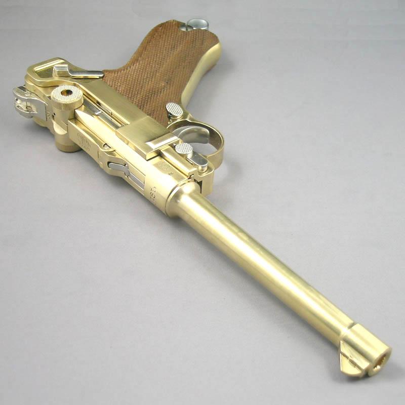 画像3: ルガーP-08・6インチ[木製チェッカーグリップ仕様] 金属・ダミーカート式モデルガン(マルシン)