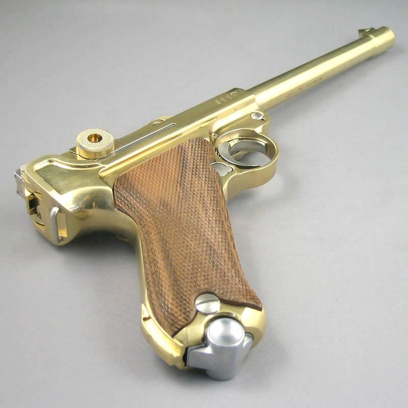 画像4: ルガーP-08・6インチ[木製チェッカーグリップ仕様] 金属・ダミーカート式モデルガン(マルシン)