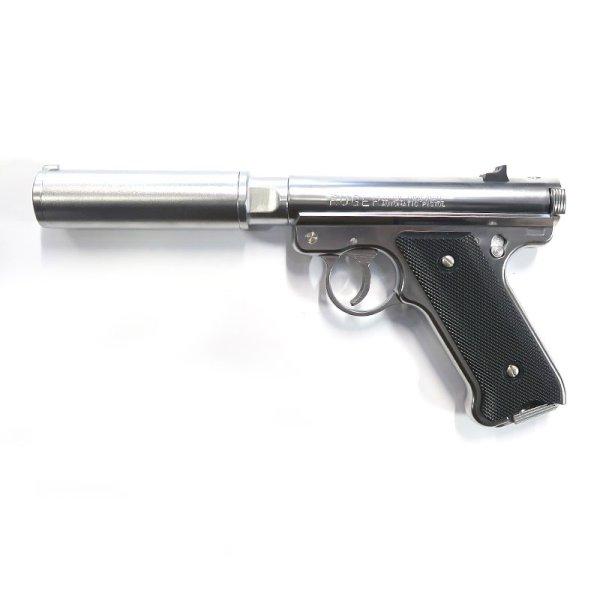 画像1: Mk1 アサシンズ・サイレンサーモデル [6mmBB/固定ガスガン] シルバーABS(マルシン)