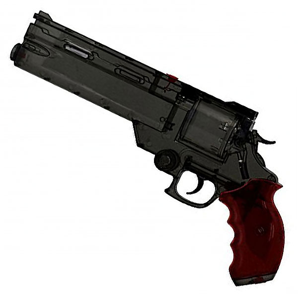 画像1: 劇場版トライガン「BADLANDS RUMBLE」より ヴァッシュの銃 ウォーターガン [クリアブラックVer.] PS製(Fullcock/アルゴ舎)