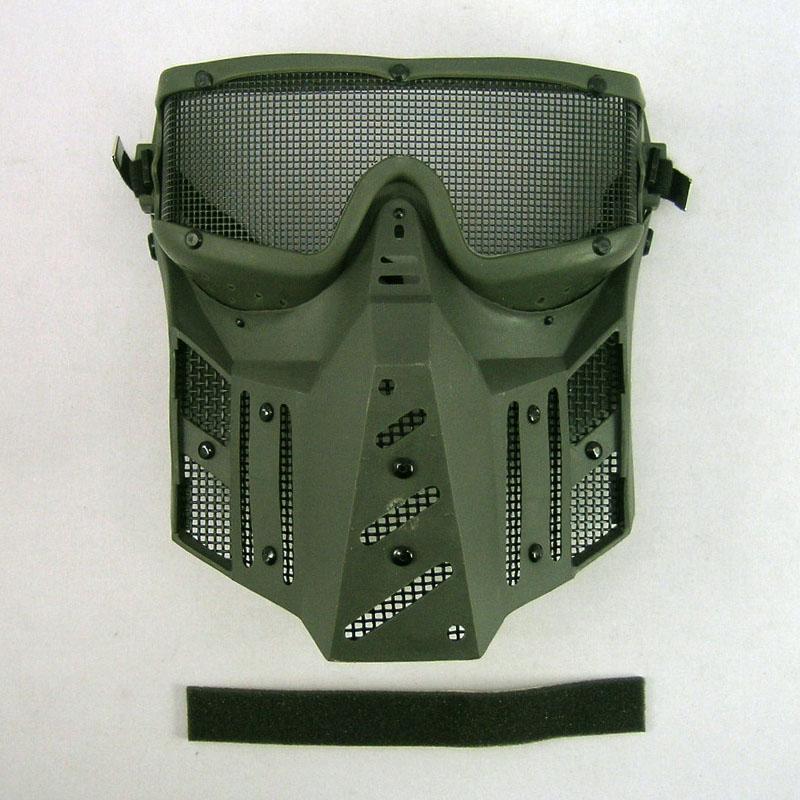 画像2: マスク&ゴーグル角型ワイド[ステンレスメッシュ]OD(サンセイ)