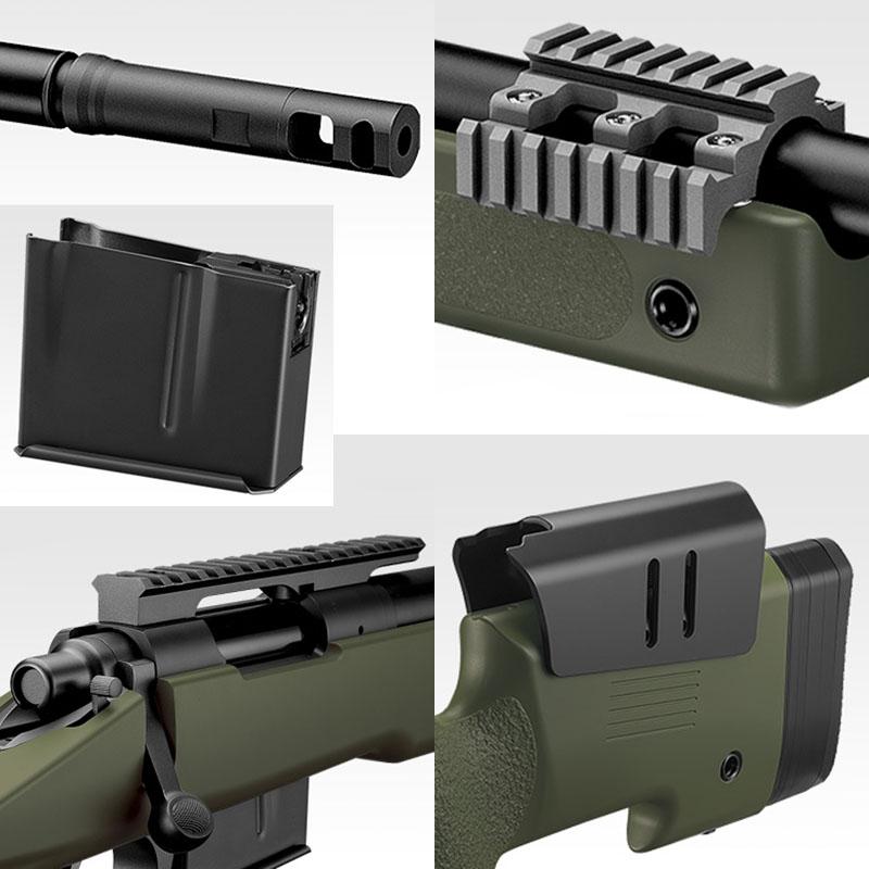 画像2: M40A5<ブラックストック> 金属/ABS・コッキング式エアガン(マルイ)