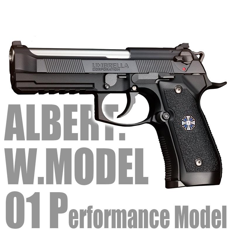画像1: アルバート.W.モデル 01P ABS・BLKガスガン(マルイ)