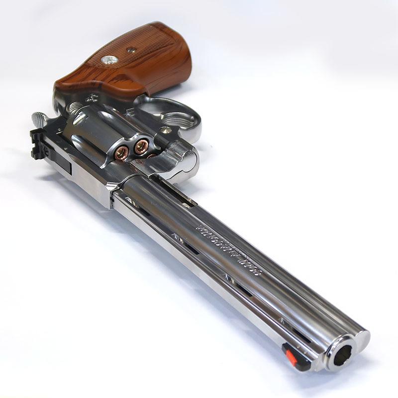 画像3:  コルト・アナコンダ .44マグナム・8インチ【6mmBB/Xカートリッジ】シルバーABS・ガスガン(マルシン)