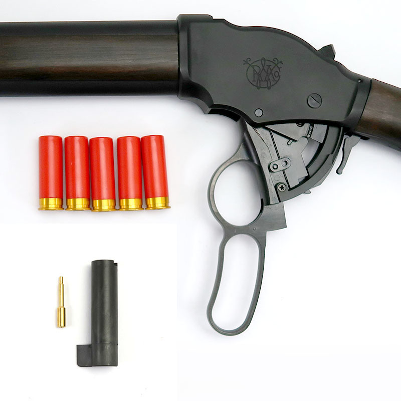 画像5: M1887ガーズガン・マットブラックコーティング[木製ストックVer.]6mmBB HW・ガスガン(マルシン)