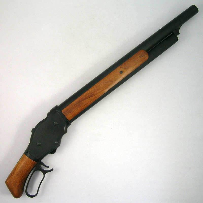 画像2: M1887ショート・6mmBB [木製ストック付]マットブラックコーティング HW・ガスガン(マルシン)