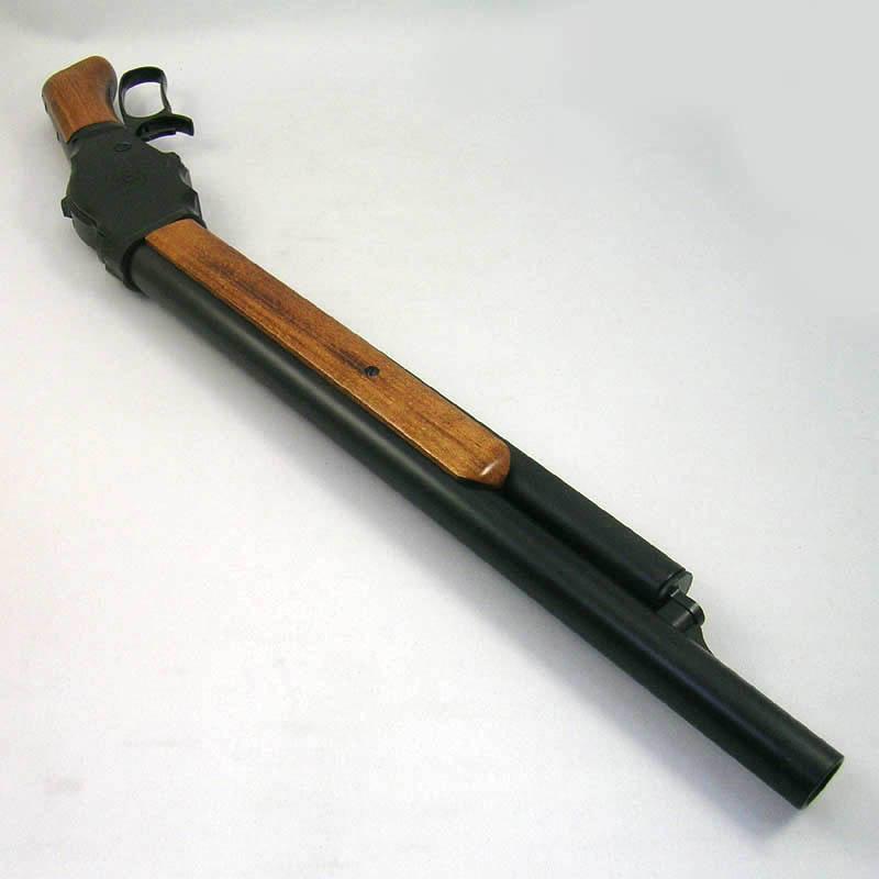 画像3: M1887ショート・6mmBB [木製ストック付]マットブラックコーティング HW・ガスガン(マルシン)