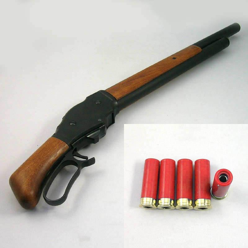 画像4: M1887ショート・6mmBB [木製ストック付]マットブラックコーティング HW・ガスガン(マルシン)