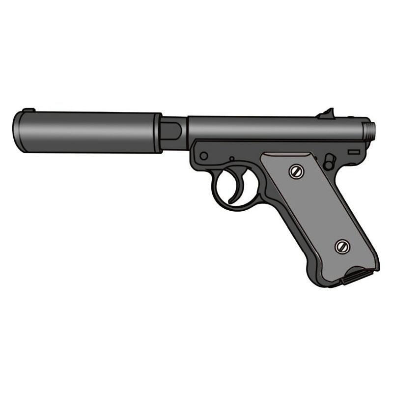 画像1: 【予約商品】Mk1 アサシンズ・サイレンサーモデル [6mmBB/固定ガスガン] ブラックHW(マルシン)