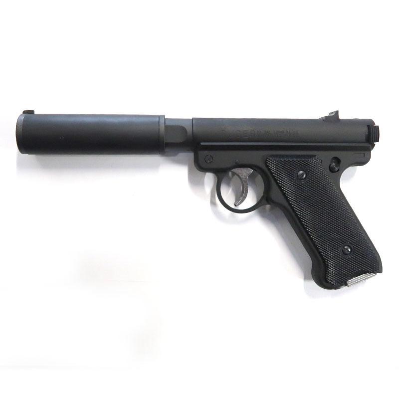 画像1: Mk1 アサシンズ・サイレンサーモデル [6mmBB/固定ガスガン] ブラックHW(マルシン)