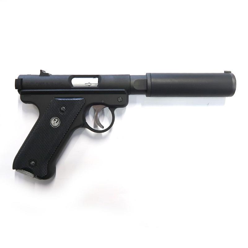 画像2: Mk1 アサシンズ・サイレンサーモデル [6mmBB/固定ガスガン] ブラックHW(マルシン)