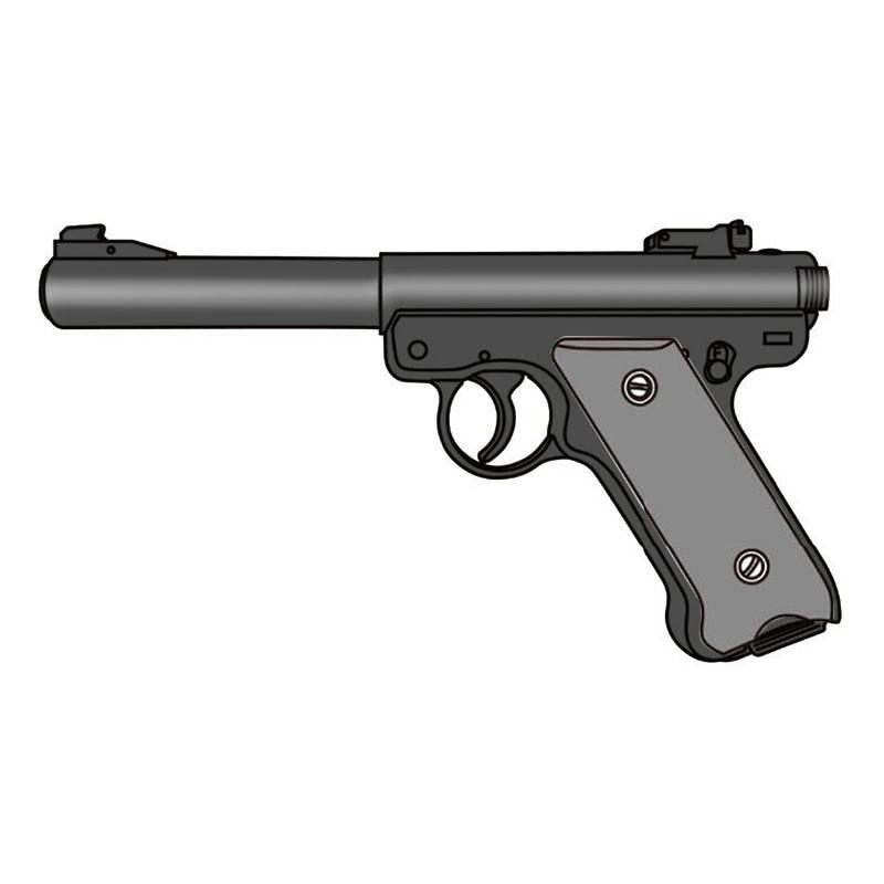 画像1: 【予約商品】Mk1 ブルバレル [6mmBB/固定ガスガン] ブラックHW(マルシン)
