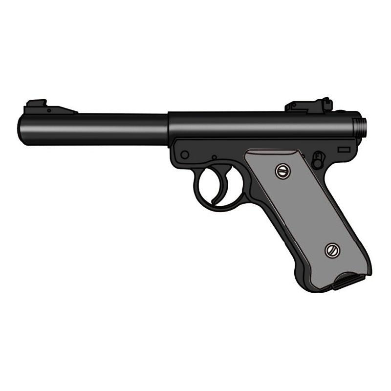 画像1: 【予約商品】Mk1 ブルバレル [6mmBB/固定ガスガン] WディープブラックABS(マルシン)
