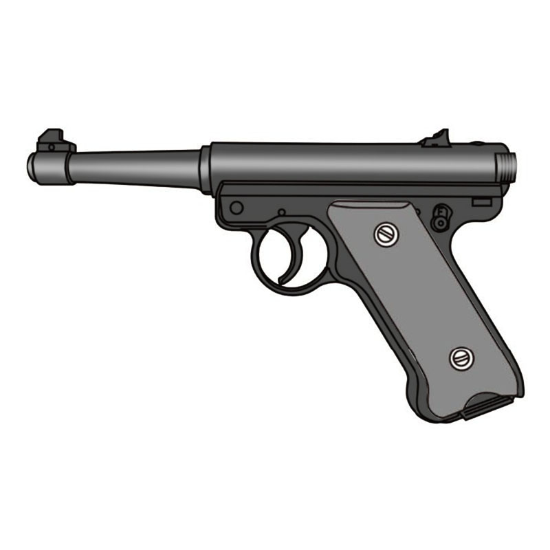 画像1: 【予約商品】Mk1 [6mmBB/固定ガスガン] ブラックHW(マルシン)