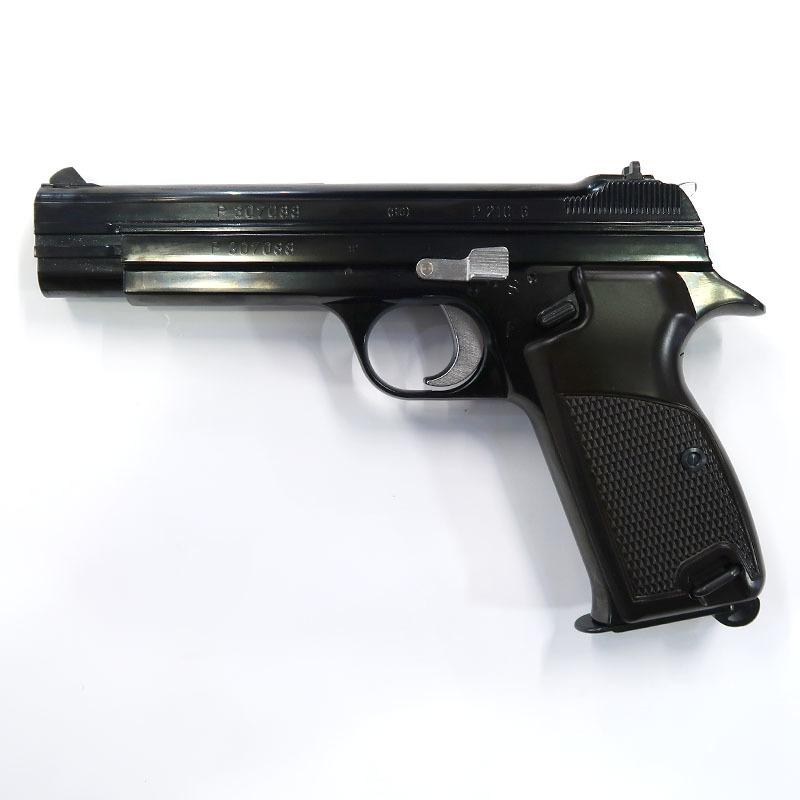 画像1: SIG P210 [6mmBB] WディープブラックABS・BLKガスガン(マルシン)