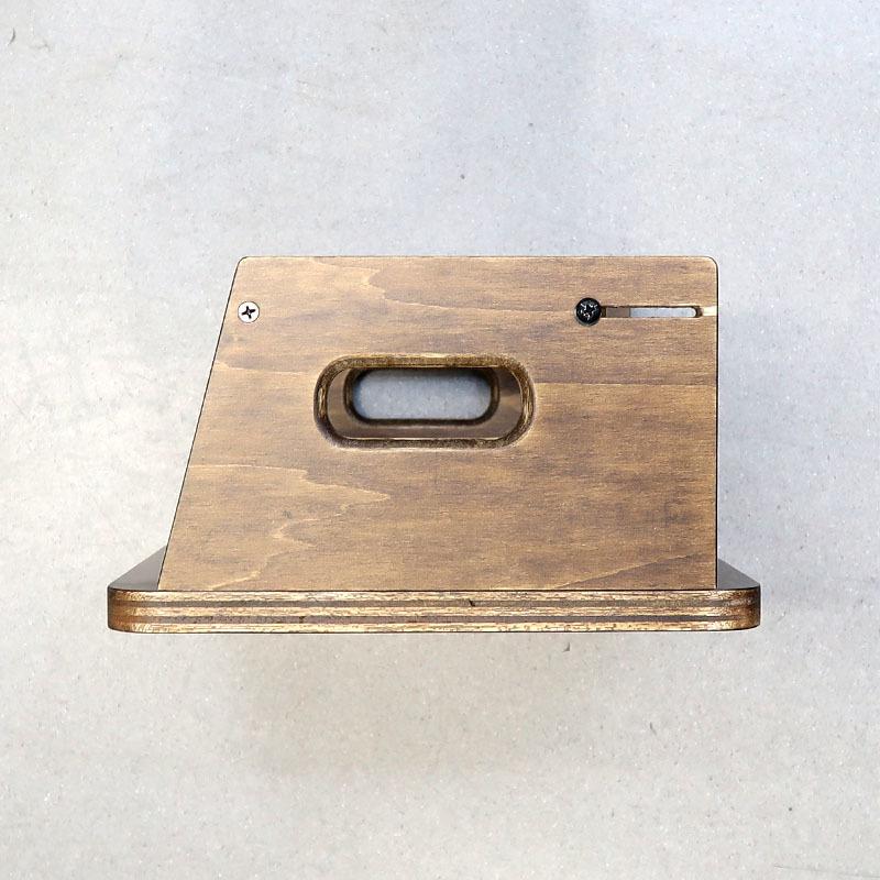 画像3: 変動型ハンドガン5挺掛ショートスタンド 木製(ファクトリーブレイン)