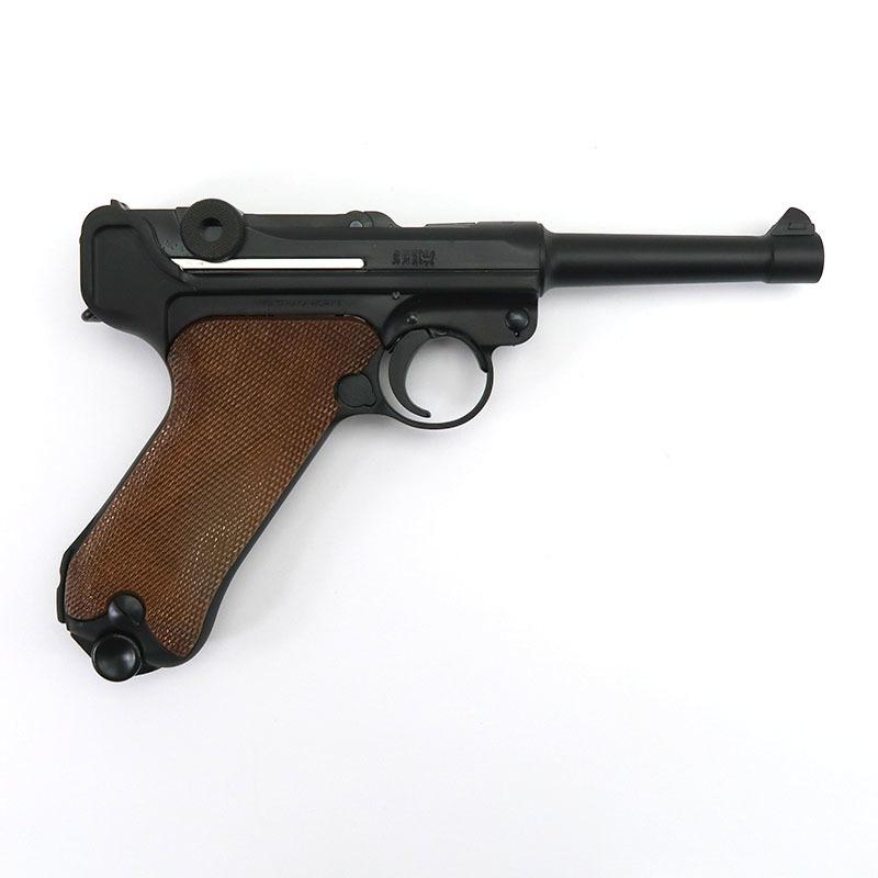 """画像2: ルガーP08・4インチ """"1918 エルフルト"""" バージョン HW・BLKガスガン(タナカ)"""