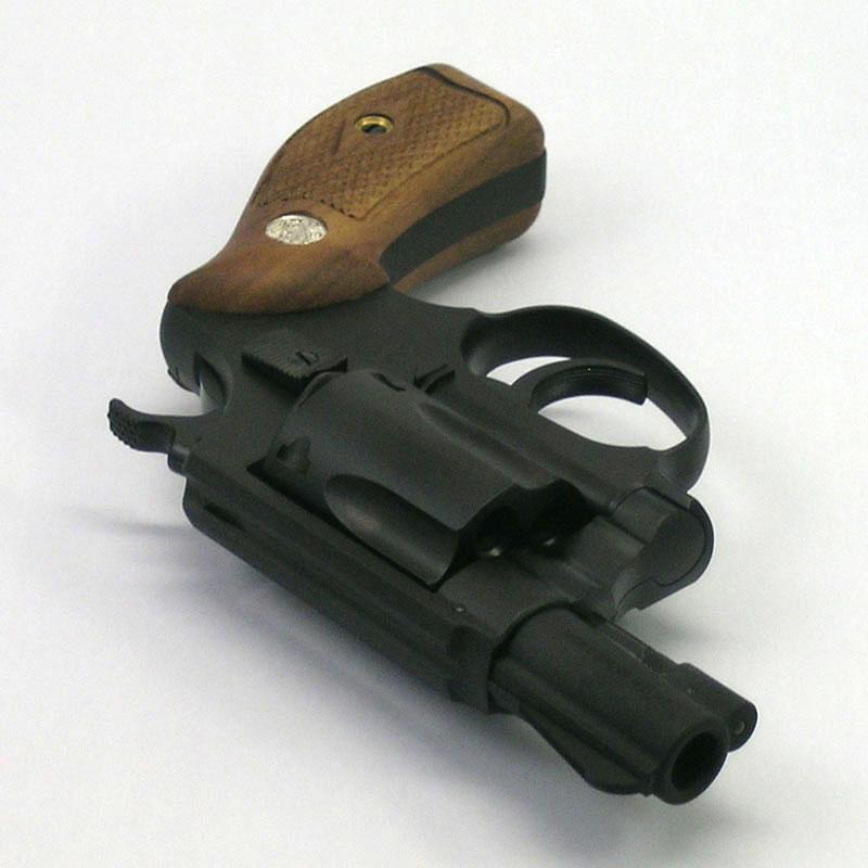 画像3: S&W M36チーフススペシャル [アーリーモデル/木製グリップ] 2インチ HW・ガスガン(タナカ)