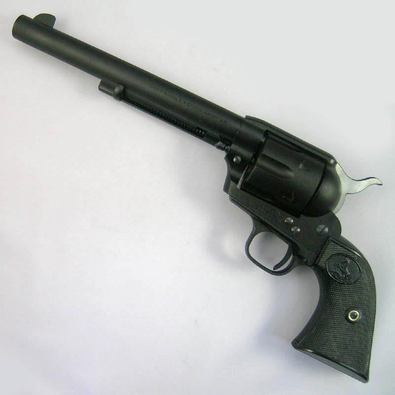 画像1: コルトSAA 2nd スタンダード [キャバルリー]7-1/2インチ  HW・発火式モデルガン(CAW)
