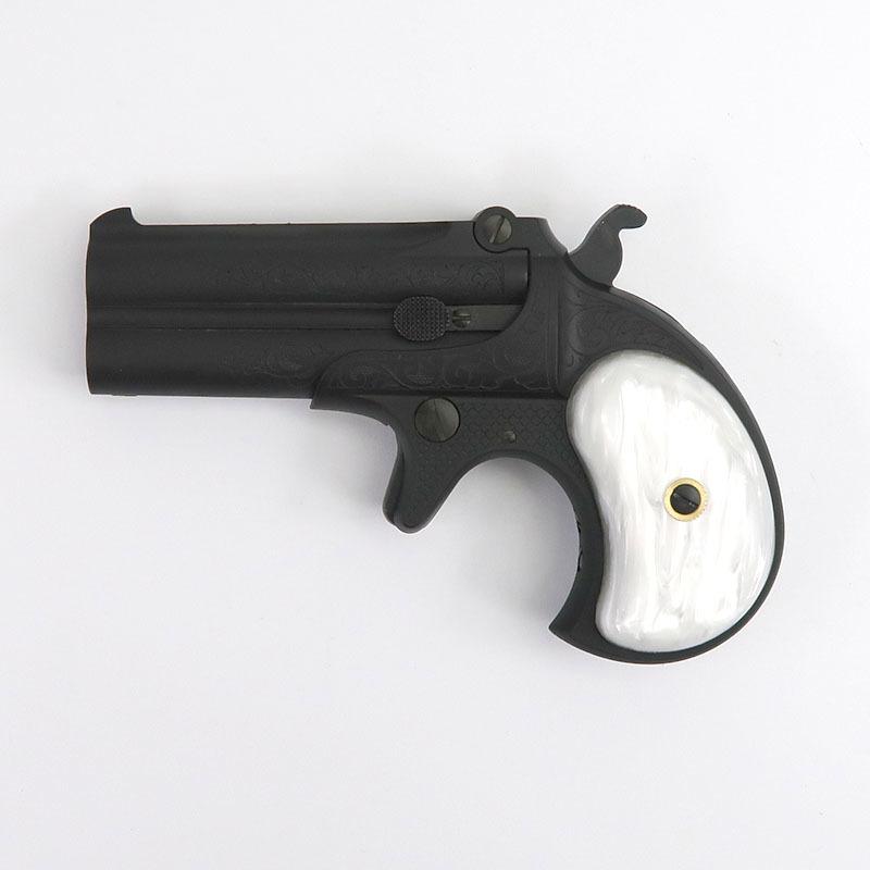 画像1: レミントン・ダブルバレル・デリンジャー [F.C.SP./限定100挺] エングレーブ/ パールグリップVer. HW・発火式モデルガン(MULE)