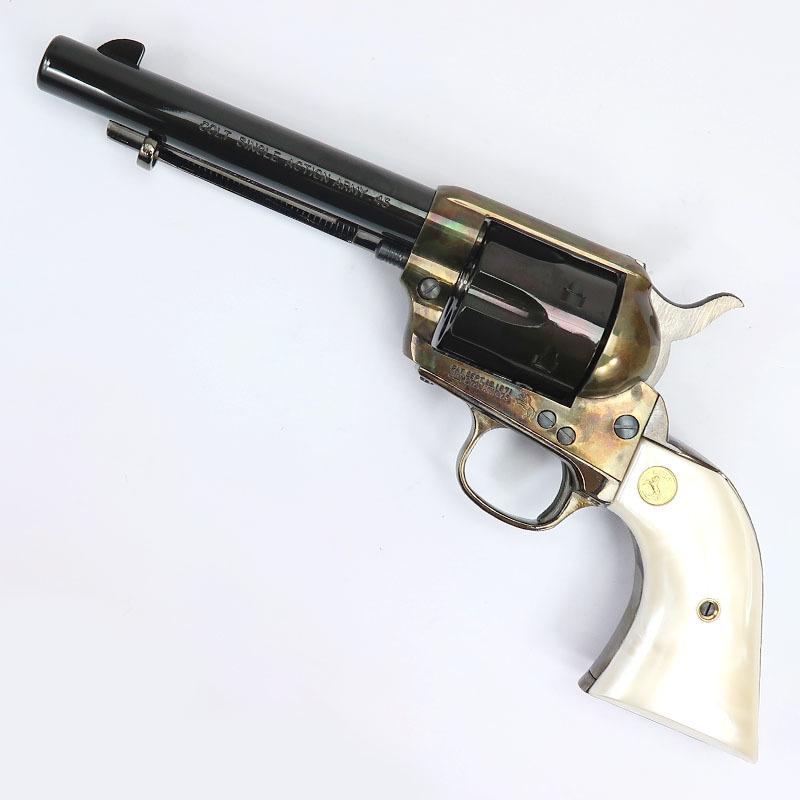画像1: コルトSAA.45アーティラリー・メッキカスタム[ケースハードン] ABS・発火式モデルガン(HWS)