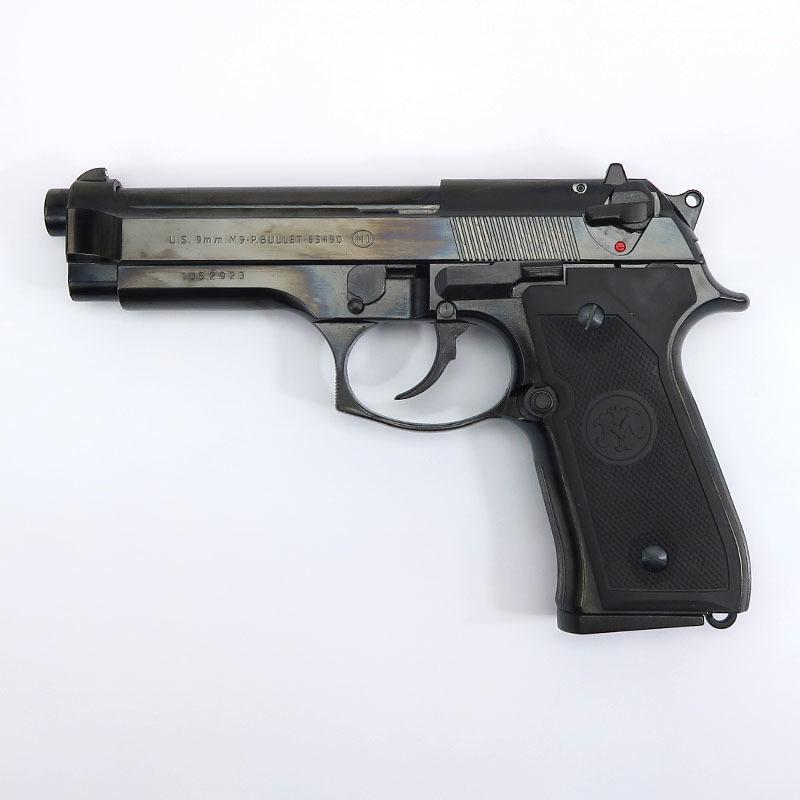 画像1: U.S. 9mm M9[ダブルディープブラック] ABS・BLKモデルガン(マルシン)