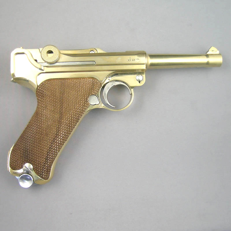 画像2: ルガーP-08・4インチ[木製チェッカーグリップ仕様] 金属・ダミーカート式モデルガン(マルシン)