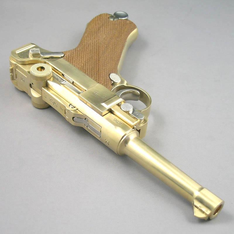 画像3: ルガーP-08・4インチ[木製チェッカーグリップ仕様] 金属・ダミーカート式モデルガン(マルシン)