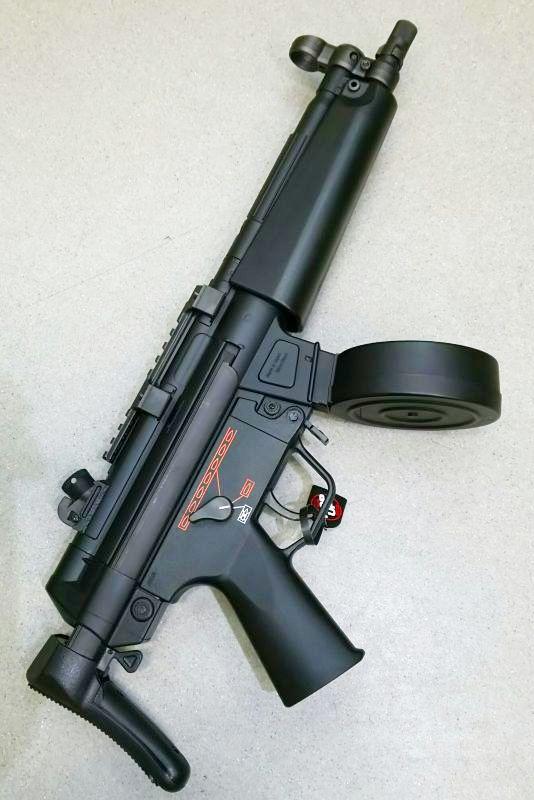 画像1: 【中古/スタンダード電動ガン】H&K MP5A5 ハイサイクルカスタム ABS製(マルイ)