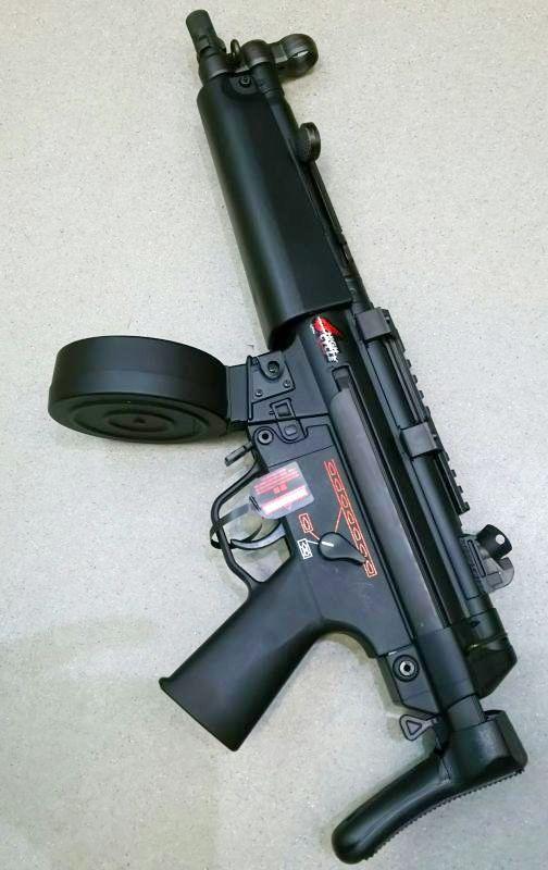 画像2: 【中古/スタンダード電動ガン】H&K MP5A5 ハイサイクルカスタム ABS製(マルイ)