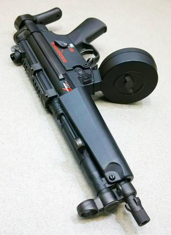 画像3: 【中古/スタンダード電動ガン】H&K MP5A5 ハイサイクルカスタム ABS製(マルイ)