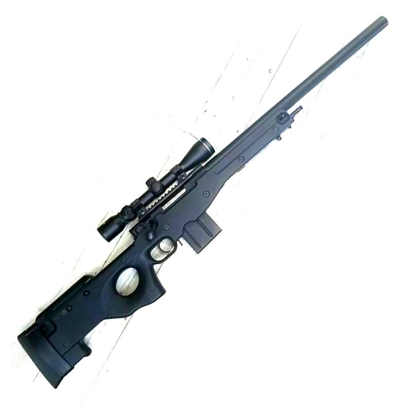 画像1: 【中古/ボルトアクションエアガン】L96AWS [ブラックストックver.] タスコ/3-9x40スコープ付き 金属/ABS製(マルイ)