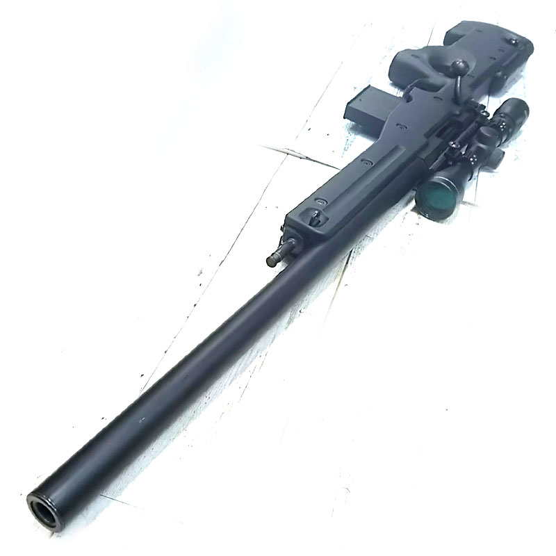画像3: 【中古/ボルトアクションエアガン】L96AWS [ブラックストックver.] タスコ/3-9x40スコープ付き 金属/ABS製(マルイ)