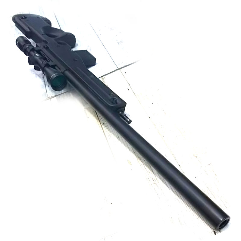 画像4: 【中古/ボルトアクションエアガン】L96AWS [ブラックストックver.] タスコ/3-9x40スコープ付き 金属/ABS製(マルイ)
