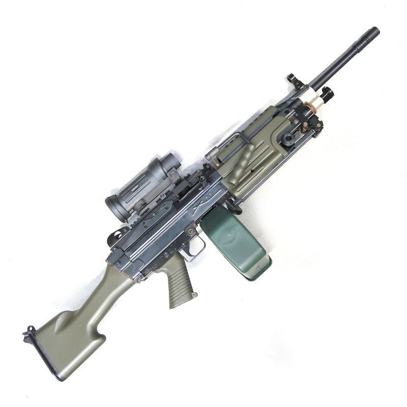 画像1: 【中古/電動ガン】F.N. M249 ミニミ SAW MKII [NATO グリーンカスタム] 金属製(TOP)