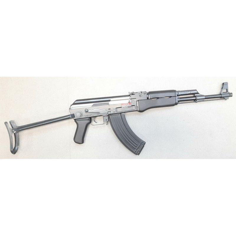 画像1: 【代引限定販売商品】【中古品/スタンダード電動ガン】AK47SブラックHG ABS製(マルイ)