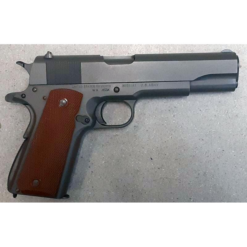 画像2: 【中古/BLKガスガン】コルト M1911A1 (SCW Ver.1) HW製(ウェスタンアームズ)