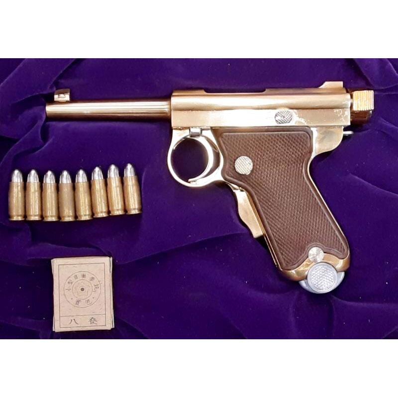 画像1: 【中古/ダミーカート式モデルガン】南部式小型拳銃(ベビーナンブ) 恩賜刻印・桐箱入り 金属製(ACG)