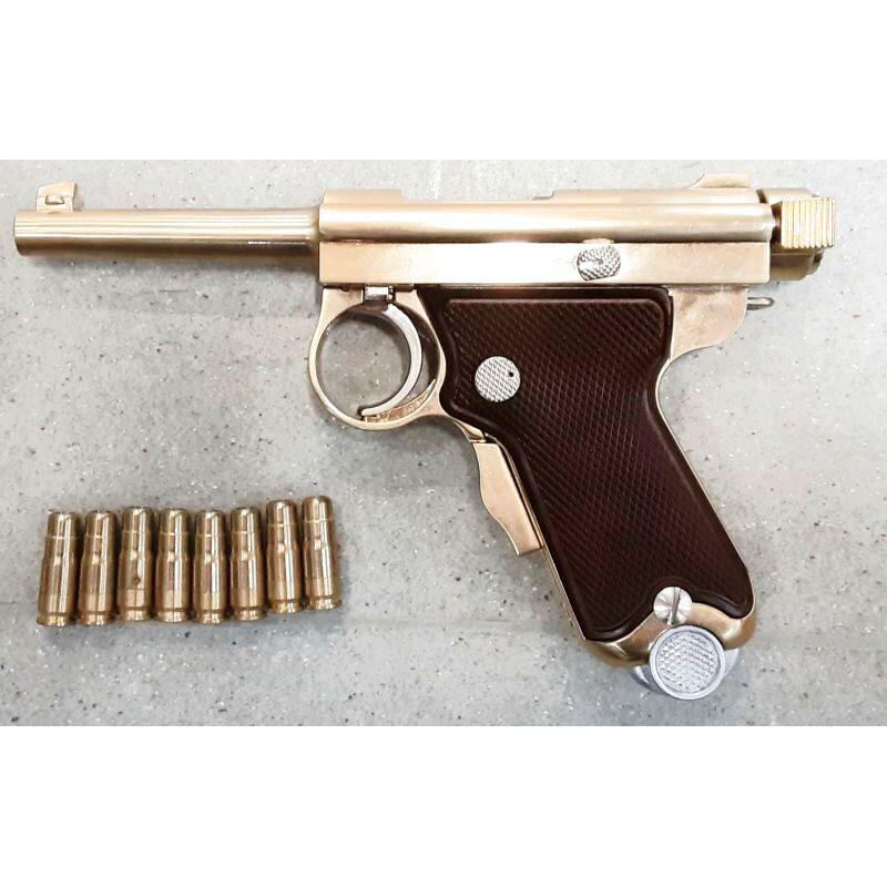 画像1: 【中古/BLK発火式モデルガン】南部式小型拳銃(ベビーナンブ) 恩賜刻印 金属製 (ACG)