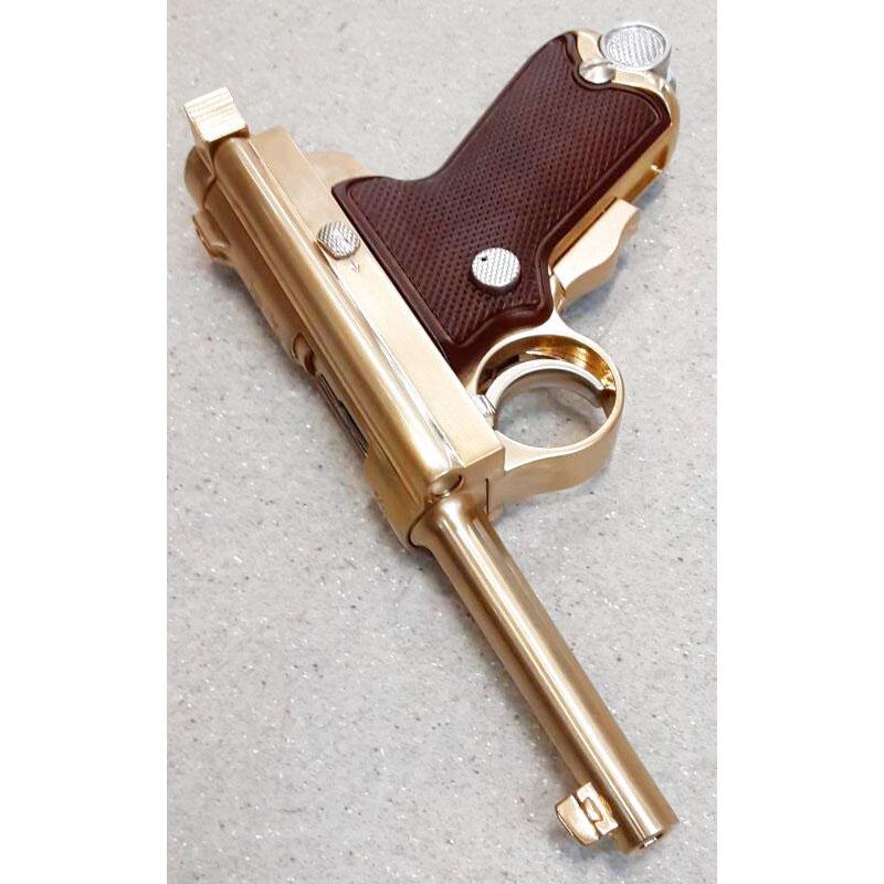 画像3: 【中古/BLK発火式モデルガン】南部式小型拳銃(ベビーナンブ) 恩賜刻印 金属製 (ACG)