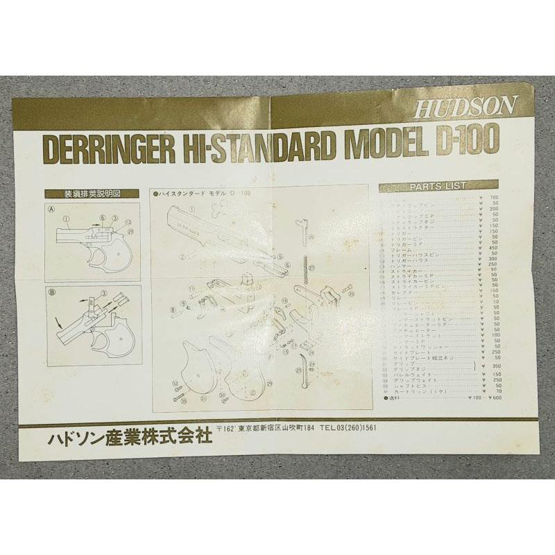 画像5: 【代引限定商品】【中古/発火式モデルガン】ハイスタンダードデリンジャー ABS製(ハドソン)