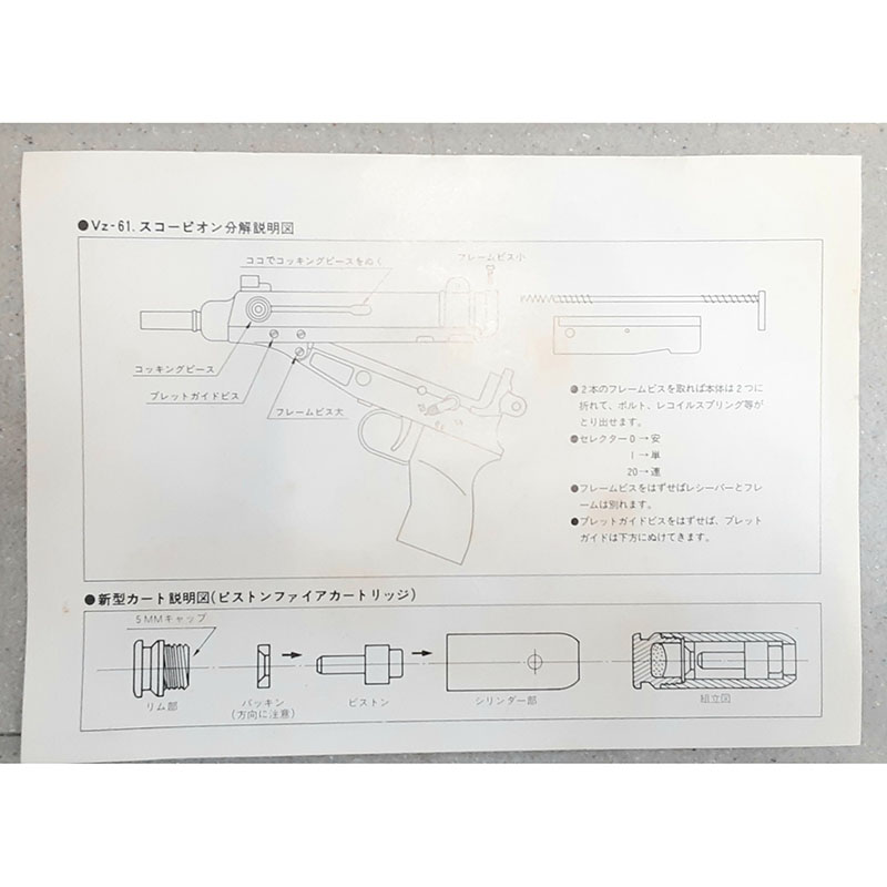 画像5: 【代引限定商品】【中古/発火BLK式モデルガン】VZ61スコーピオン 金属製(ハドソン)